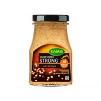 Kamis Musztarda Strong z Ostra Gorczyca - Strong Mustard with Hot Mustard Seeds 185g