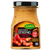 Kamis Musztarda Strong z Chili Cietym - Spicy Mustard with Chilli Peppers 185g