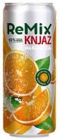 Knjaz Milos Remix Orange Soft Drink 330ml