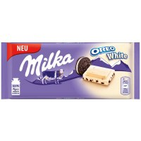 Milka Oreo White Milk Chocolate Bar 100g