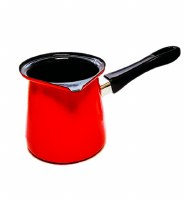 Metalac Dzezva Enamel Coffee Pot Red 12cm Diameter