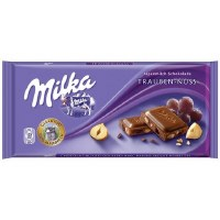 Milka Raisins and Hazelnuts Chocolate 100g