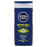 Nivea Mens Energy 24 Hour Fresh Shower Gel 250ml