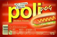 Poli Chicken Sausage Franks Approx. 1 lb F