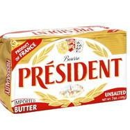 President Imported Butter Unsalted 7oz R