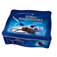 Solidarnosc Chocolate Plum Candy in Metal Tin 490g