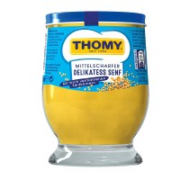 Thomy Delikatess Senf Mustard in a Glass Jar 250ml