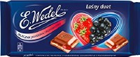 E. Wedel Chocolate with Blueberry and Wild Strawberry Filling 100g
