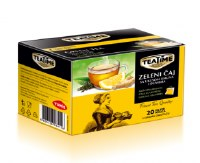 Yumis Tea Time Green Tea with Lemon and Ginger 30g