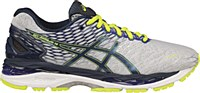 Asics Men's GEL-Nimbus 18 Extra-Wide (Silver / Ink / Flash Yellow)