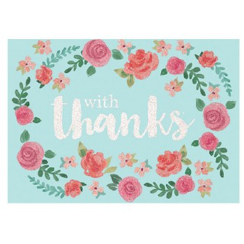 AMSCAN THANK YOU CARDS FLORAL
