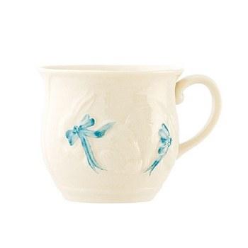 BELLEEK BUNNY CUP BLUE
