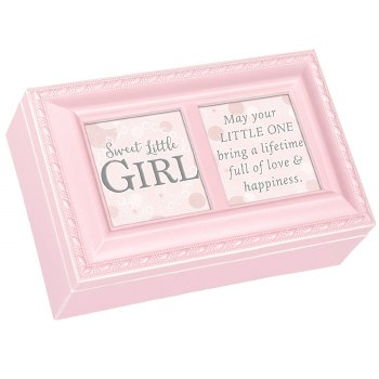 COTTAGE GARDEN MUSIC BOX LITTLE GIRL