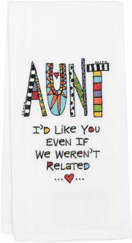 EMBROIDERED TEA TOWEL FOREVER FRIEND
