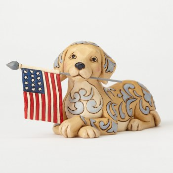 HEARTWOOD CREEK DOG HOLDING FLAG