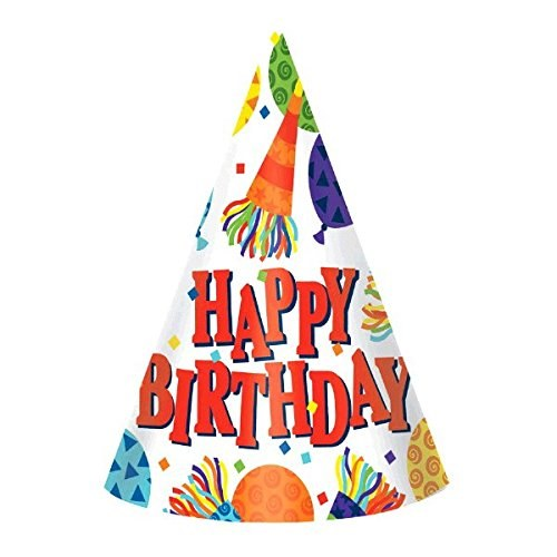 AMSCAN BIRTHDAY HORN PARTY HATS - MARCO'S EMPORIUM