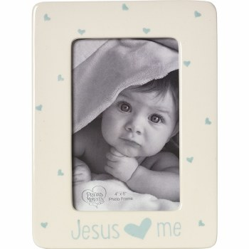 P/M JESUS LOVES ME FRAME BLUE
