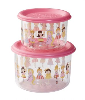 PRINCESS SET/2 SNACK CONTAINERS