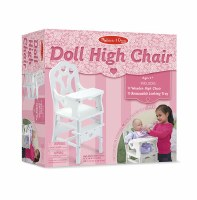 MELISSA & DOUG WOOD DOLL HIGHCHAIR