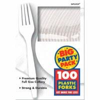 100CT WHITE PLASTIC FORKS