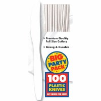 100CT WHITE PLASTIC KNIVES