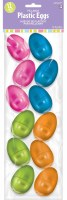 12CT MED PLASTIC EGGS METALLIC
