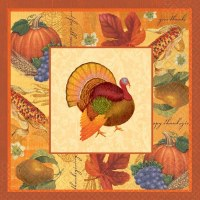16ct DINNER NAPKINS THANKSGIVING SCRAPBK