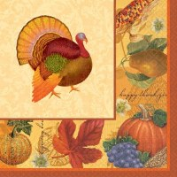 16ct NAPKIN THANKSGIVING SCRAPBOOK LUNCH