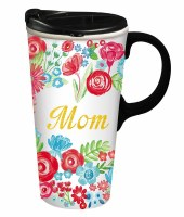 17oz CERAMIC TRAVEL CUP MOM