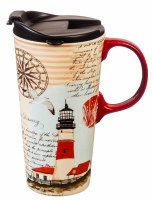 17oz CERAMIC TRAVEL CUP NORTH LIGHTHOUSE