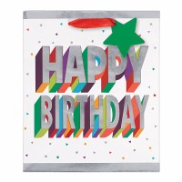 3D MEDIUM BIRTHDAY BAG W/GIFT TAG