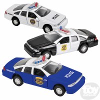 "4.5"" DIE-CAST PULL BACK POLICE CAR"