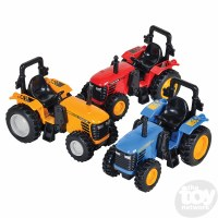 "4"" DIE-CAST PULL BACK FARM TRACTOR"