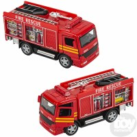 "5"" DIE-CAST PULL BACK FIRE ENGINE"