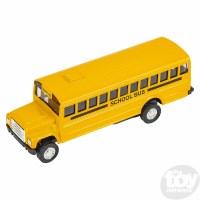 """5"""" DIE-CAST PULL BACK SCHOOL BUS"""