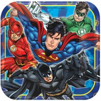 "9"" PLATES JUSTICE LEAGUE 8ct"