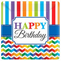 "10"" PLATES BRIGHT BIRTHDAY 8ct"