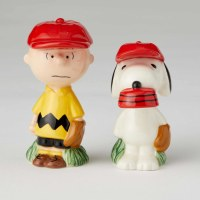 CHARLIE BROWN & SNOOPY BASEBALL S&P SET