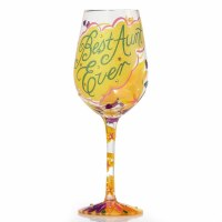 LOLITA WINE GLASS BEST AUNT EVER