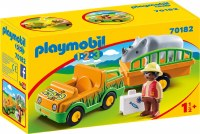 PLAYMOBIL 123 ZOO VEHICLE W/ RHINO