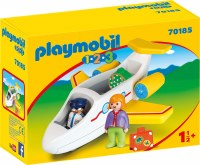 PLAYMOBIL 123 AIRPLANE W/ PASSENGER