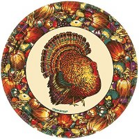 12CT DINNER PLATES AUTUMN TURKEY