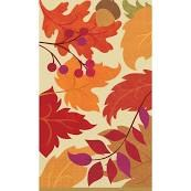 AMSCAN 16CT GUEST   TOWELS AUTUMN DAYS