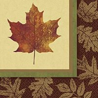 AMSCAN 16CT NAPKINS FALL LEAVES