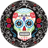 AMSCAN 18CT PLATES  DAY OF DEAD