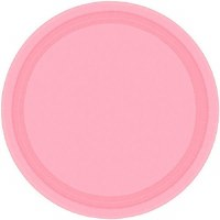"AMSCAN 20ct 7"" PLATES NEW PINK"