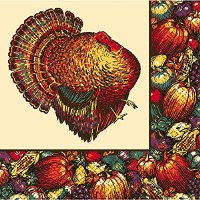 20CT LUNCHEON NAPKINS AUTUMN TURKEY