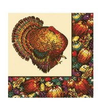 20ct DINNER NAPKINS AUTUMN TURKEY