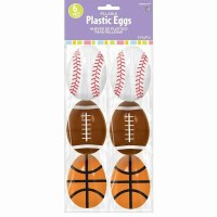 AMSCAN 6ct SPORTS EGGS