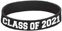 AMSCAN CLASS OF 2021 SILICONE BRACELET
